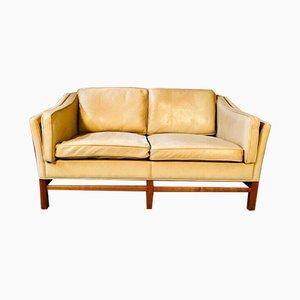 Dänisches Mid-Century 2-Sitzer Sofa aus cognacfarbenem Leder von Grant Mobelfabrik