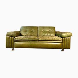 Mid-Century Danish Olive Green 2-Seater Sofa from Svend Skipper, 1970s