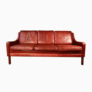 Mid-Century Danish 3-Seater Leather Sofa by Rud Thygesen, 1960s