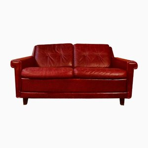 Mid-Century Scandinavian Buffalo Leather 2-Seater Sofa, 1970s