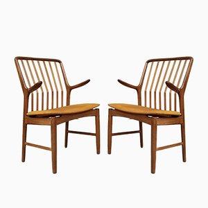 Mid-Century Danish Carver Chairs by Svend Åge Madsen, Set of 2