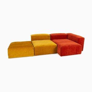 Cosima Modular Sofa & Ottoman Set in Orange & Yellow Fabric from Bolia
