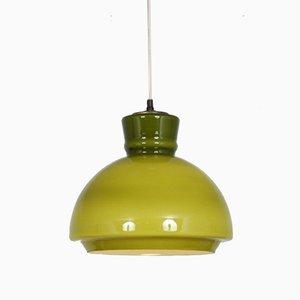 Swedish Glass Hanging Lamp, 1960s