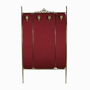 Coat Rack in Brass and Cloth, Italy, 1960s