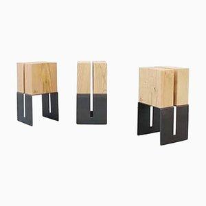 Simmis Stools by La Cube, Set of 3
