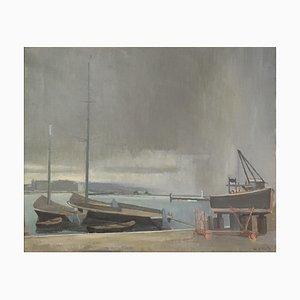 Eugène Louis Martin, Quai Gustave, Ador et barques du Léman, 1946