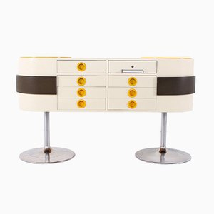 Pop Art Counter or Chest of Drawers in the Style of Raymond Loewy