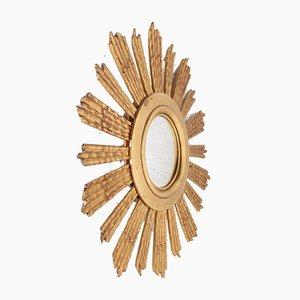 Sun Mirror in Giltwood