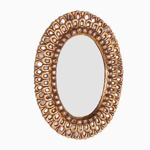 Vergoldeter Spiegel im Stil von Line Vautrin