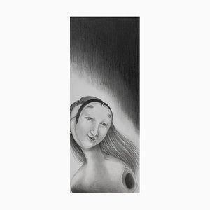 Japanese Drawing, Tomo Sakurai, Noh Men, 2021