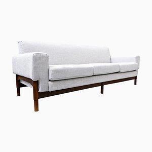 Mid-Century 3-Seater Walnut Sofa from Saporiti, Italy, 1960s