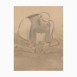 Fernande Cormier, Paysanne accroupie, 1918