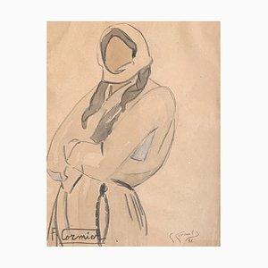 Fernande Cormier, Paysanne qui attend, 1918