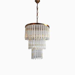 Chandelier with 3 Tiers from Venini, Italy, 1970s