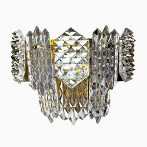 Sconce with 8 Crystals from Kinkeldey, Germany, 1970s