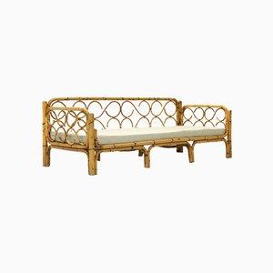 Rattan Sofa Bed, 1960s