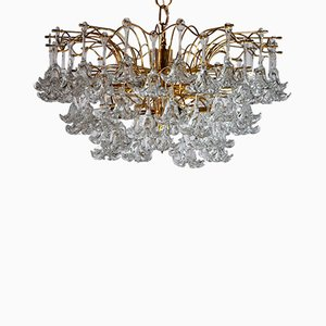 3-Tier Flower Chandelier from Venini, Italy, 1970s