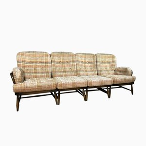 Mid-Century Interchangeable 4-Piece Sofa with Cushions by Lucian Ercolani for Ercol, Set of 4