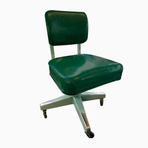 Green Tanker Office Chair from Lyon, Illinois, USA, 1950s