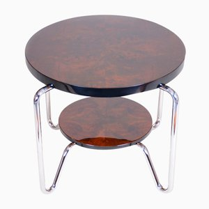 Small Bauhaus Side Table in Chrome and Lacquered Wood from Kovona, 1950s