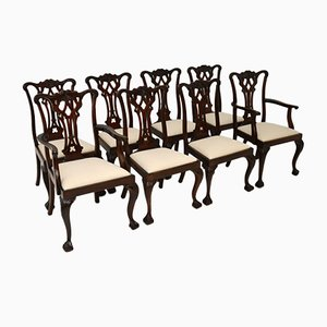 Antique Chippendale Dining Chairs, Set of 8