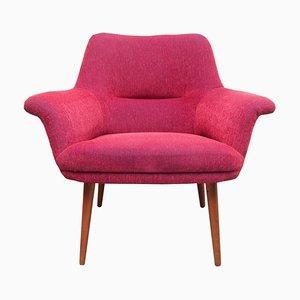 Armchair in Dark Pink, 1950s