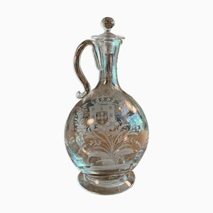 Vintage Jug Engraved With Coats of Arms