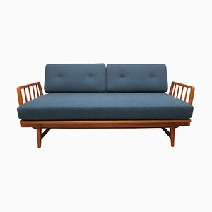 Reupholstered Daybed in Cherry from WK Möbel, 1950s