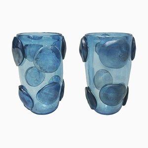 Mid-Century Modern Italian Murano Glass Vases from Costantini, Set of 2