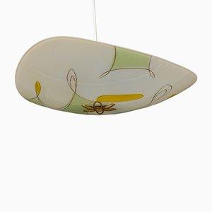 Mid-Century German Glass Pendant Lamp