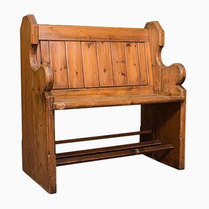 Antique Victorian English Pine Bench or Pew