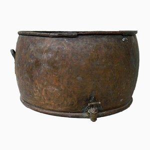 Large Antique Copper Cheese Vat or Planter