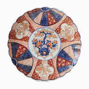 Antique Japanese Imari Porcelain Charger Plate, 19th Century