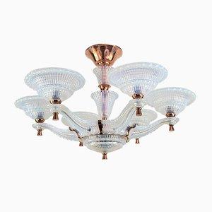 Vintage Art Deco Ceiling Lamp from Petitot
