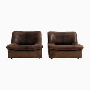 DS46 Seats in Thick Buffalo Leather from De Sede, Set of 2