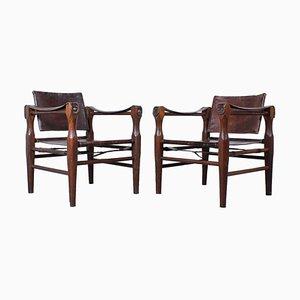 Oak Safari Chairs by Kaare Klint, 1960s, Set of 2