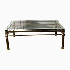 Coffee Table in Brass and Glass, 1970s