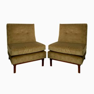 Chairs in Walnut Wood, 1960s, Set of 2