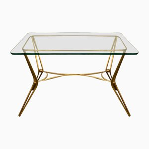 Coffee Table in Glass and Brass, 1960s