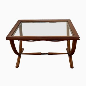Coffee Table in Wood and Glass by Paolo Buffa, 1960s