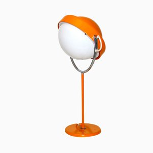 Vintage Swedish Orange Table Lamp by Uno Dahlen for Aneta, 1960s