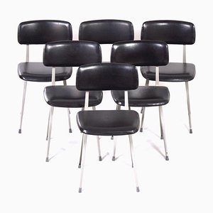 Black Result Chairs by Friso Kramer and Wim Rietveld for Ahrend De Cirkel, 1960s, Set of 6