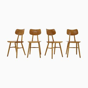 Dining Chairs, Czechoslovakia, 1960s, Set of 4