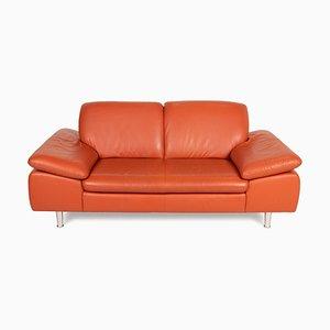 Loop Orange Leather Sofa by Willi Schillig