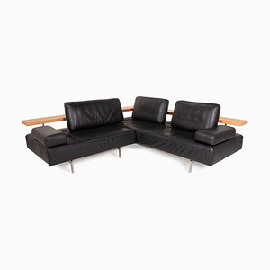 Dono Black Leather Sofa by Rolf Benz