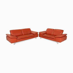 Loop Leather Sofa Set by Willi Schillig, Set of 2