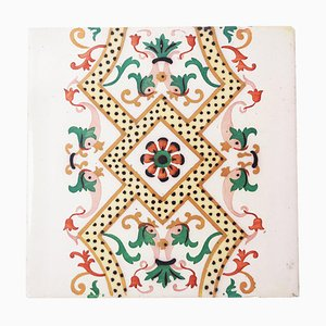Antique Ceramic Tiles with Fish from Onda Spain, 1900s