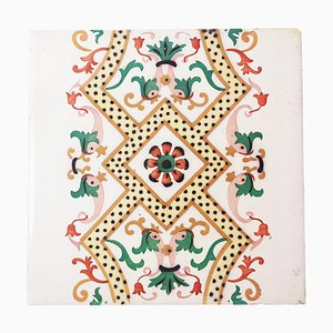 Antique Ceramic Tile with Fish by Onda Spain, 1900s
