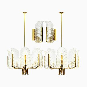 Brass Light Fixture from Orrefors, 1960s, Sweden