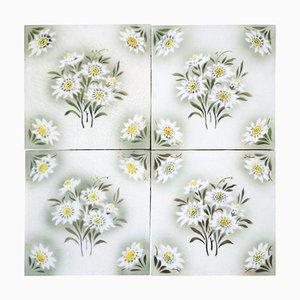 Antique Ceramic Tile from Societe Morialme, 1920